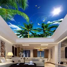 Fototapete Schlafzimmer Blau Benutzerdefinierte 3d Fototapete Blaue Himmel Und Weiße Wolken