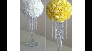 Tabletop Chandelier Centerpiece by Diy Crystal Rose Candle Stick Chandelier Centerpiece Youtube