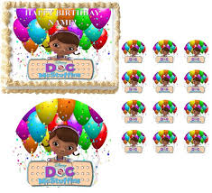 doc mcstuffins cupcake toppers doc mcstuffins characters ballons image edible cake topper image
