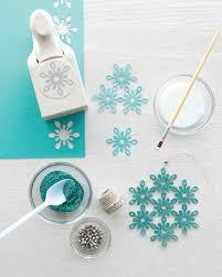 eric pike u0027s glittered snowflake ornaments martha stewart
