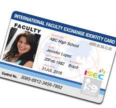 photo card isecard isec international student identification card
