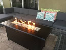 Outdoor Propane Fire Pit Outdoor Linear Fire Pit And Seating Area On Lanai Better Homes
