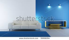 living room setting white couch face stock illustration 39998284