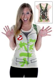 Womens Costume Ghostbusters T Shirt Halloween Costumes