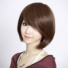 birthing hairstyles birthing dark brown bobo style with tilted bang high temp fiber wigs