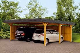 wooden carport with fence quecasita