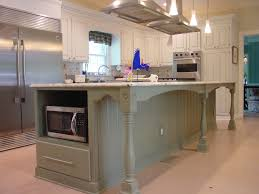 Kitchen Island With Black Granite Top Beige Painting Cabinet With Beige Granite Top White Ceramic Tile