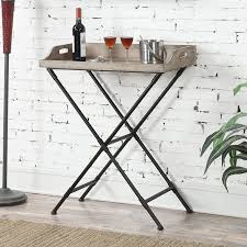 Folding Console Table Convenience Concepts Wyoming Folding Console Table Walmart Com