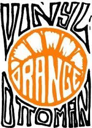 Vinyl Orange Ottoman Vinyl Orange Ottoman