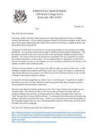 important letter to parents kirksville high paw print