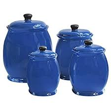 cobalt blue kitchen canisters american atelier canisters set of 3 home kitchen
