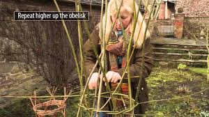 how to make a willow obelisk plant support youtube
