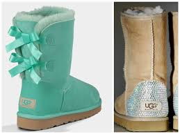 ugg bailey bow black sale ugg surf spray bailey bow boots with by twiggyandtigerlily
