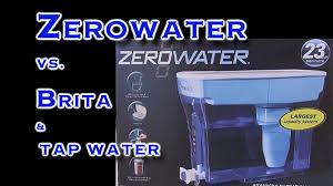 Pur Vs Brita Faucet Water Filter Zero Water Vs Brita Test Youtube