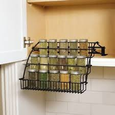 wire cabinet shelf organizer rubbermaid coated wire spice rack pull down storage organizer in