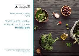 Rapport publicitaire Tunidal Godet de p¢te d olive Par Techcare