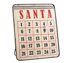 Pottery Barn Calendar Santa Magnetic Advent Calendar Pottery Barn Au