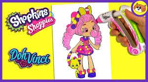 dohvinci shopkins bubbleisha shoppies coloring youtube