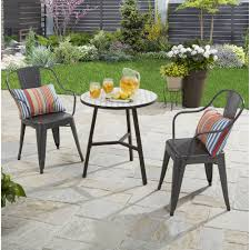 industrial patio furniture better homes and gardens camrose farmhouse industrial chairs gray