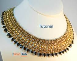 necklace beaded pattern images Peyote stitch patterns necklace tutorial seed bead etsy jpg