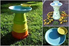 Flower Pot Bird Bath - these clay pot bird baths are absolutely adorable