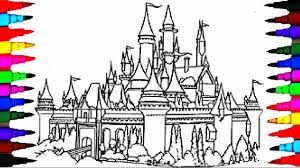 how to color kids castle rainbow sparkle coloring pages videos