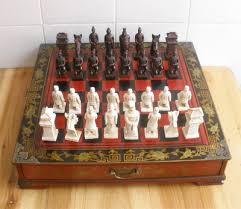 ancient chess ancient chess game chess chess set of solid characters and antique