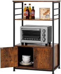 kitchen pantry storage cabinet microwave oven stand with storage kealive kitchen baker s rack with cabinet 3