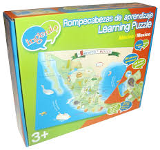 Baja Mexico Map by Amazon Com Ingenio Mexico Map Bilingual Learning Puzzle Toys U0026 Games