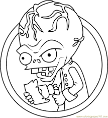 dr zomboss coloring page free plants vs zombies coloring pages