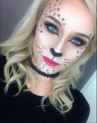 leopard halloween costume glamorous leopard cat makeup tutorial perfect for halloween
