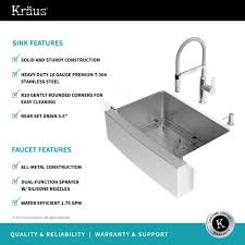 Premium Kitchen Faucets Stainless Steel Kitchen Sink Combination Kraususa Com