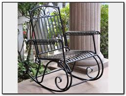 Patio Rocking Chairs Metal Cheap Black Metal Patio Chairs Patios Home Decorating Ideas