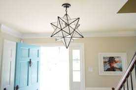moravian star light fixture hanging a moravian star light in the foyer young house love