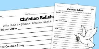 beliefs differentiated worksheets worksheet beliefs