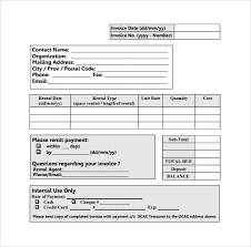 qualified rent invoice templates free document for pdf or