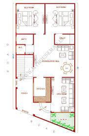 100 home design 20 x 50 27 three bedroom house plan 100 3