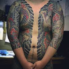 Chest And Half Sleeve - 50 japanese chest tattoos for masculine design ideas