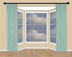 Panels For Windows Decorating Best 3d Scenery Blackout Curtains Bay Window Treatments