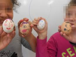 Decorating Easter Eggs Blowing Out by Easter Elt Inspired