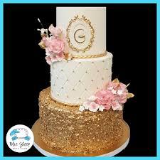 wedding cake gold pink and gold wedding cake nj blue sheep bake shop