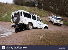 land rover range rover off road land rover defender 110 and range rover off roading on the land