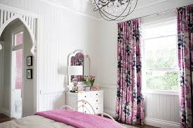Gray And Pink Curtains Pink And Gray Curtains Transitional S Room Highgate House