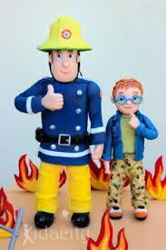 fireman sam cake topper homemade marshmallow fondant