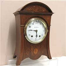 Large Silver Mantel Clock Antique Seth Thomas Inlaid Mantel Clock From Drury On Ruby Lane