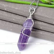 amethyst necklace pendant images Natural amethyst crystal quartz healing point chakra bead pendant jpg