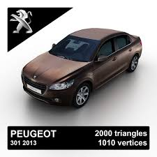 peugeot model 2013 peugeot 301 sedan 3d max