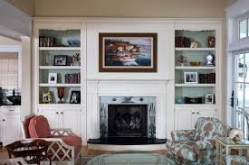 Ideas For Bookshelves by Decorating Ideas For Bookcases By Fireplace Living Room Beach