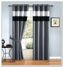 Blackout Curtains Black Curtains Black And White Living Room Gorgeous White Bay Window