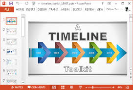 animated timeline generator template for powerpoint